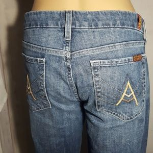 "7FAM ""A"" Pocket Flare Denim"